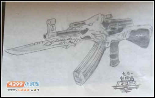 生死狙击玩家手绘—ak47荣耀击杀