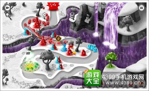 果冻防御颜色区分战斗