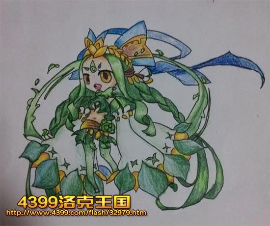 洛克王国绿野仙灵手绘 4399黛丽