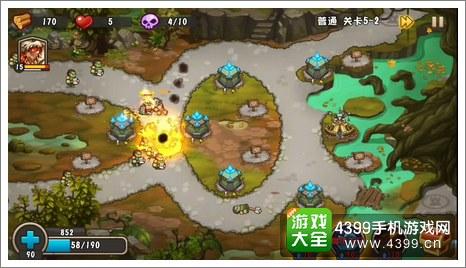城堡突袭2第5-2关兽人群