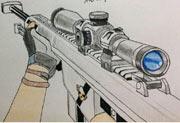 生死狙击玩家手绘―白银巴雷特