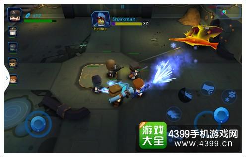 迷你英雄:英雄战队双摇杆操作