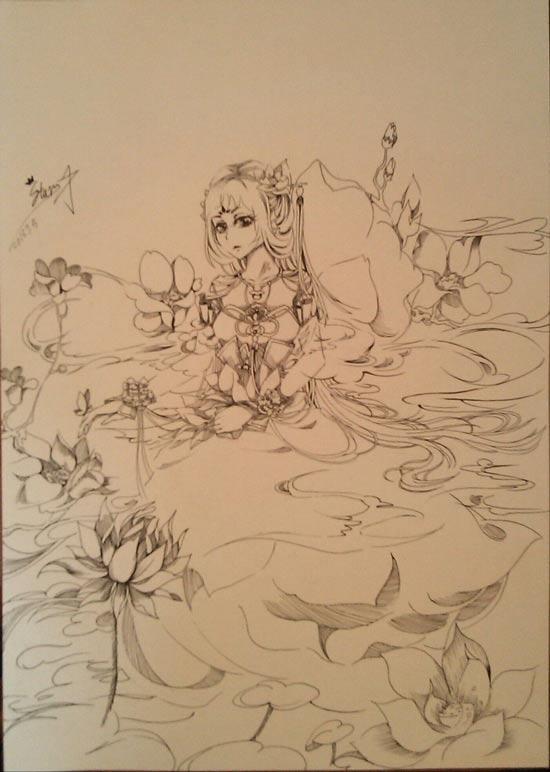 小花仙手绘渡生--绘★图安