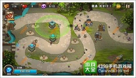 城堡突袭2第13-1关怎么过 超长防线一路狙击