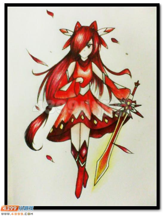 赛尔号手绘 女汉纸圣剑缪斯