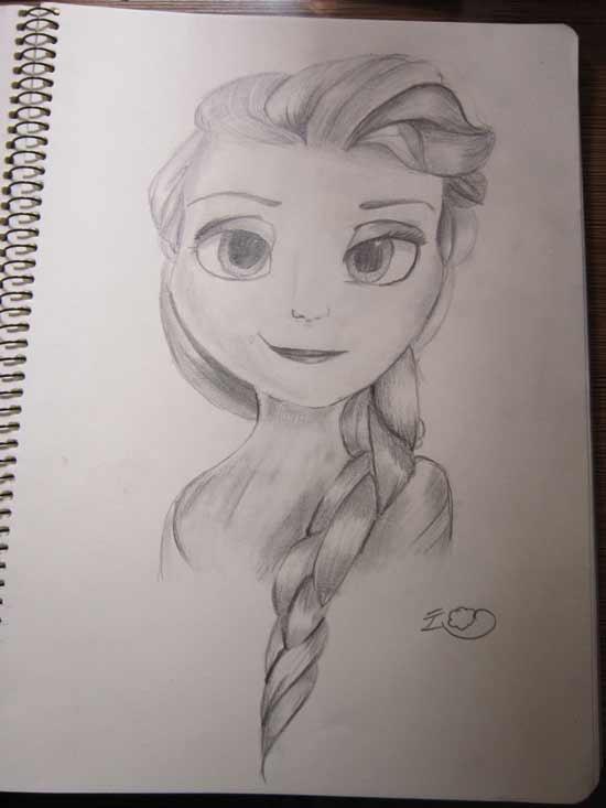 小花仙手绘素描版爱莎--云梦pjqy