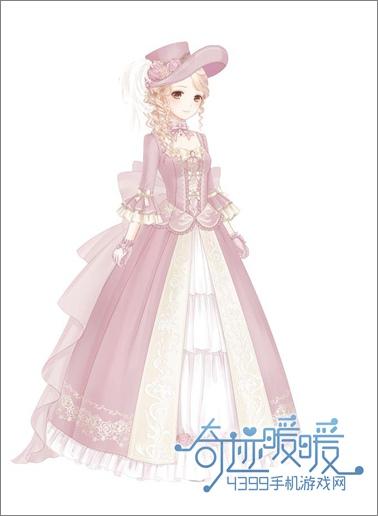 """奇迹暖暖 玩家专栏 正文  """"安娜小姐""""套装分为五个部件,头发,裙子"""