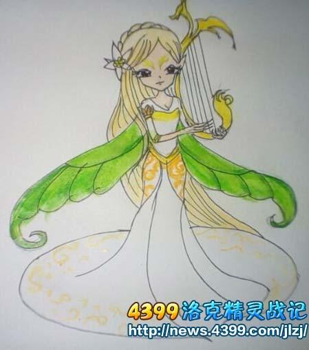 绘画作品 手绘 > 正文  洛克精灵战记丛林仙女伊瑟拉 4399鹿小勋 洛克