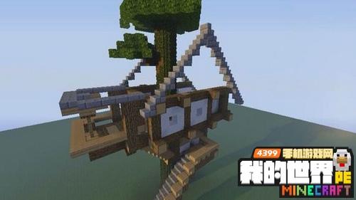 我的世界树屋设计图 儿时的梦想