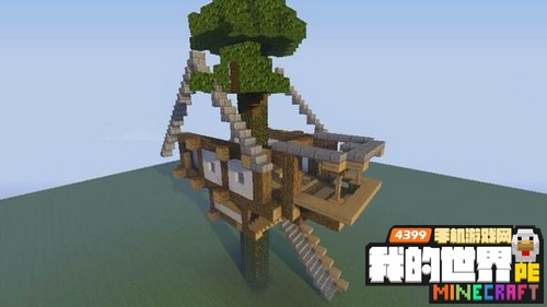 我的世界树屋教程
