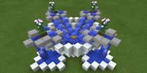 我的世界喷泉设计图 花园小喷泉