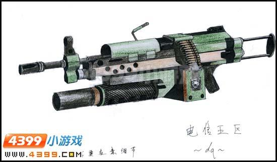 生死狙击玩家手绘—m249狂蟒