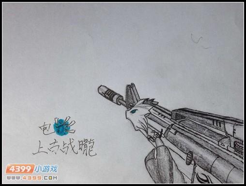 生死狙击玩家手绘—m4a1荣耀冲锋
