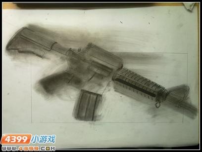 生死狙击玩家手绘—m4a1
