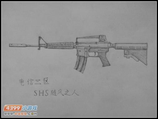 生死狙击玩家手绘—m4a1-a