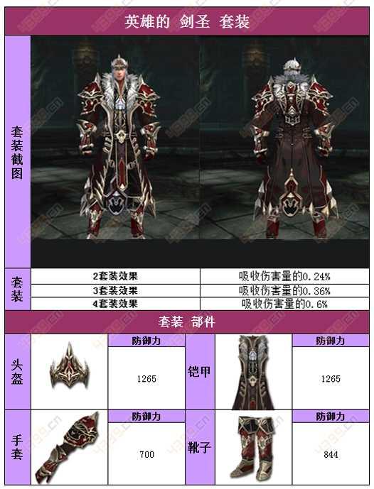 raven掠夺者人类英雄的剑圣套装属性