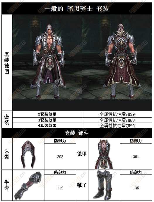 raven掠夺者人类一般的暗黑骑士套装