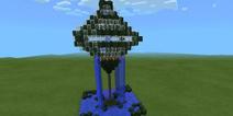 我的世界喷泉怎么做 高空喷泉建筑