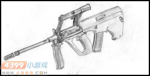 生死狙击玩家手绘—aug