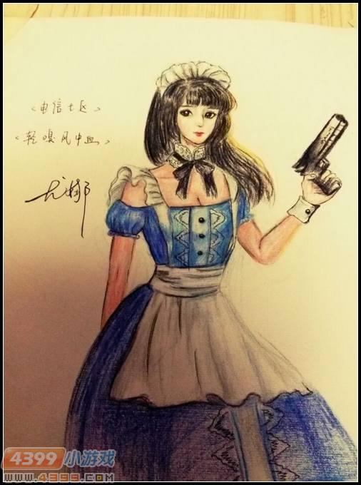 生死狙击玩家手绘 战士尤娜