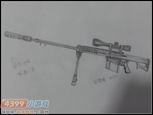生死狙击玩家手绘—巴雷特m82