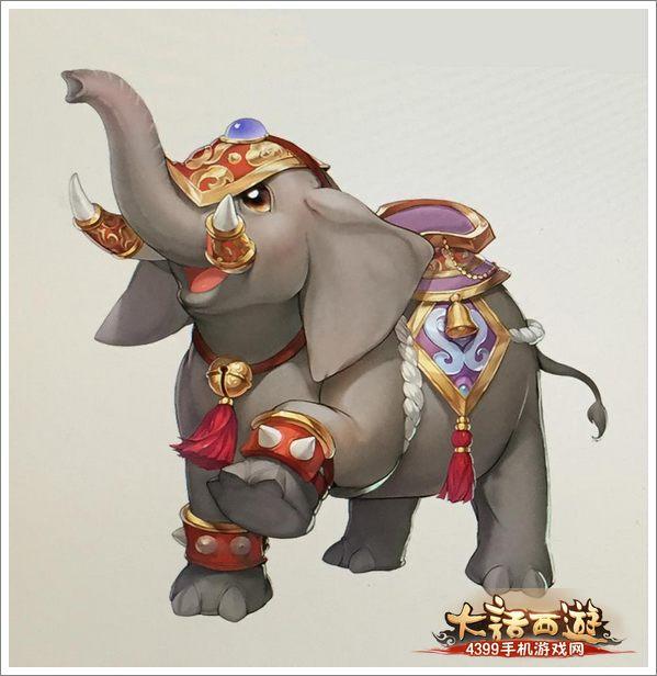 木雕大象葫芦叶图片