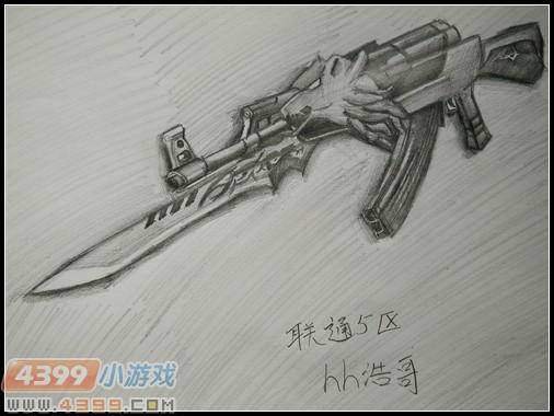生死狙击玩家手绘—ak47荣耀之魂