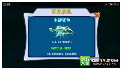 饥饿的鲨鱼电鲨
