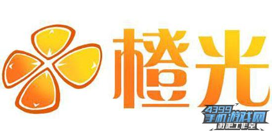橙光花纹边框素材