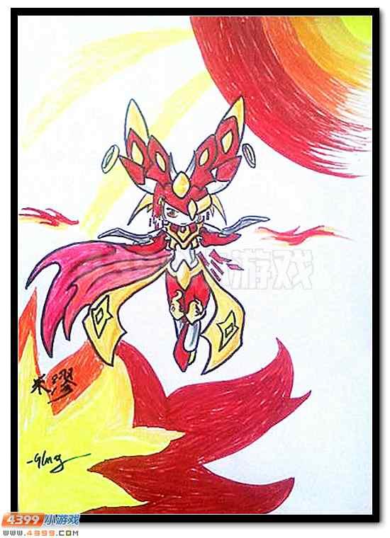 赛尔号 小让咆哮 自创精灵  战神联盟的融合形态,也非常和谐啊!