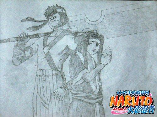 火影忍者手游手绘第二期 你能猜出他们是谁吗