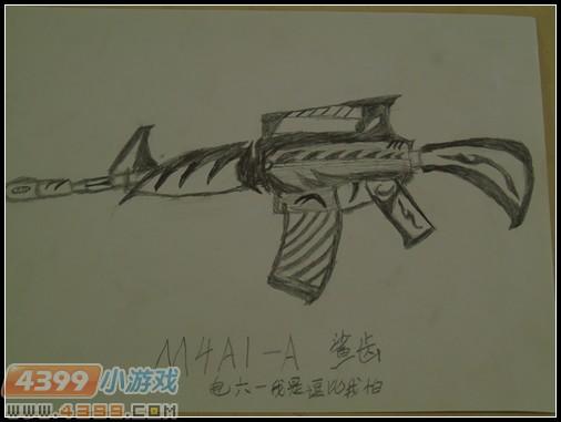 生死狙击玩家手绘—m4a1-a鲨齿