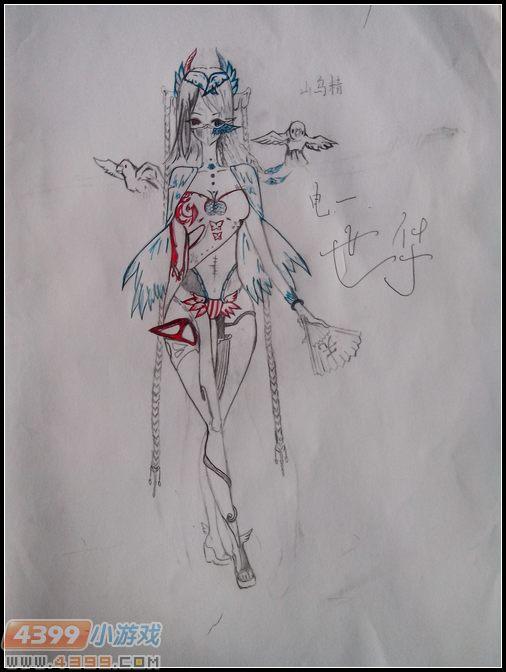生死狙击玩家手绘—变异新女角