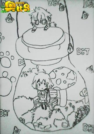 儿童画 简笔画 手绘 线稿 323_463 竖版 竖屏