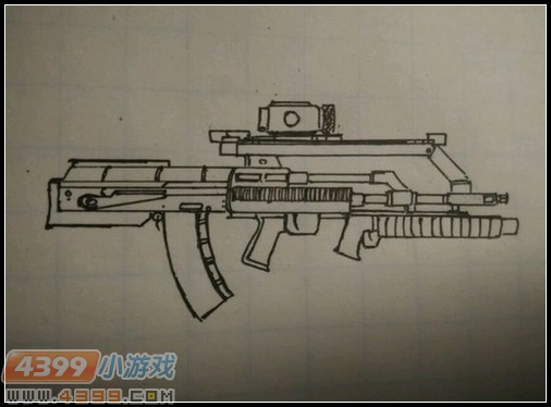 生死狙击玩家手绘—原创枪