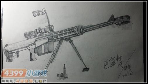 生死狙击玩家手绘—omys巴雷特