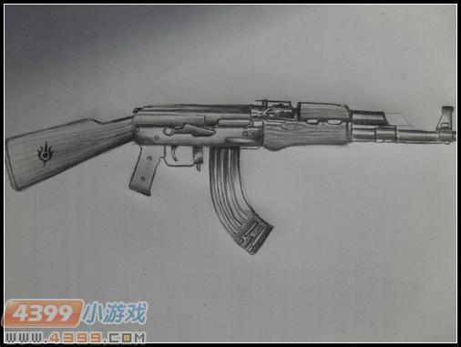 生死狙击玩家手绘—标准ak47