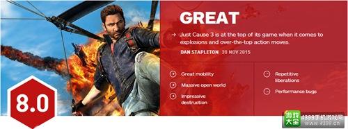 《正当防卫3》IGN评分出炉 优秀但bug略多