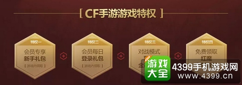 CF手游QQ会员特权