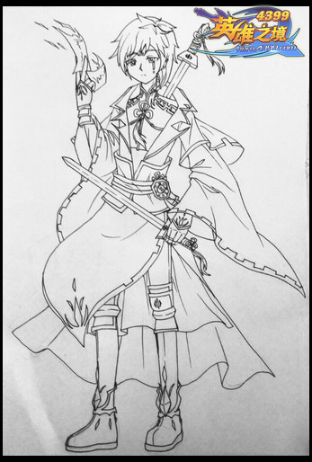 英雄之境绘画作品-原创除妖师