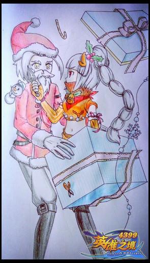 英雄之境绘画作品-圣诞惊喜