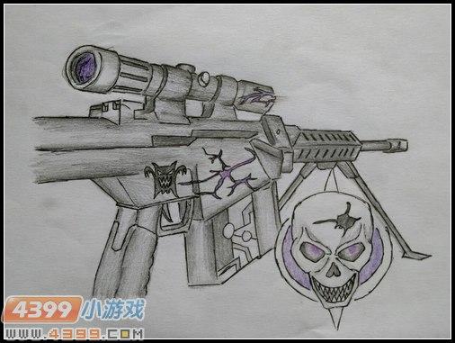 生死狙击玩家手绘—巴雷特-紫魔