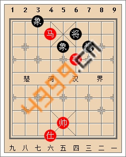 天天象棋残局实战解析以马砍兵炮象护驾