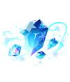 奥比岛霜月冰蓝晶石