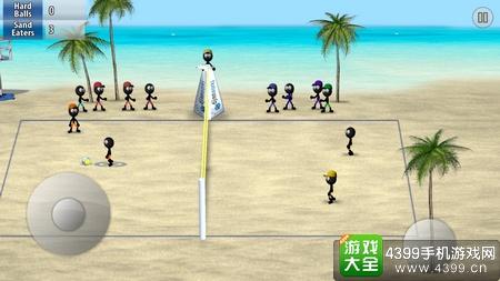 火柴人排球玩法