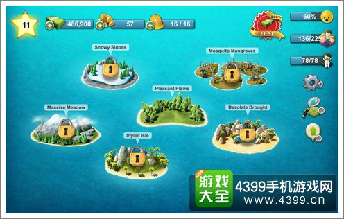 城市岛屿4不同的岛屿