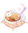 奥比岛爱心喵爪奶茶