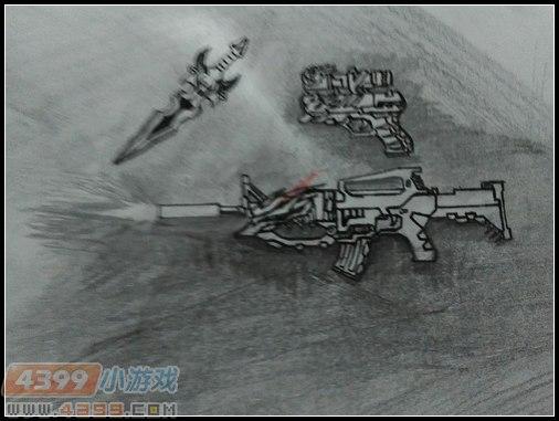 生死狙击玩家手绘—武器三件套