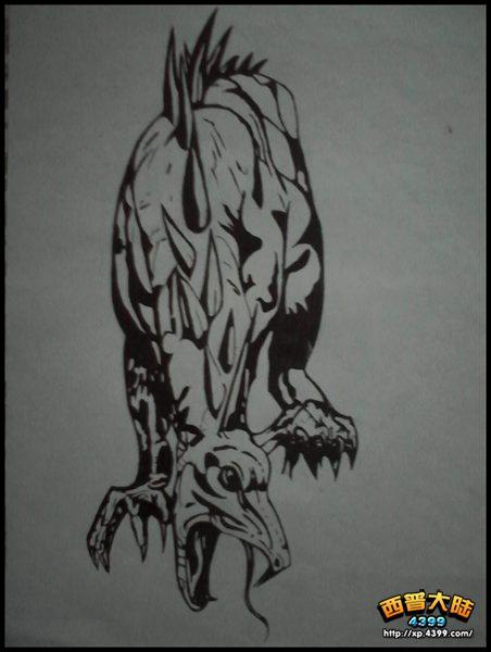 西普大陆手绘 恐龙