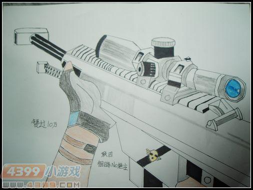 生死狙击玩家手绘—白银巴雷特来袭